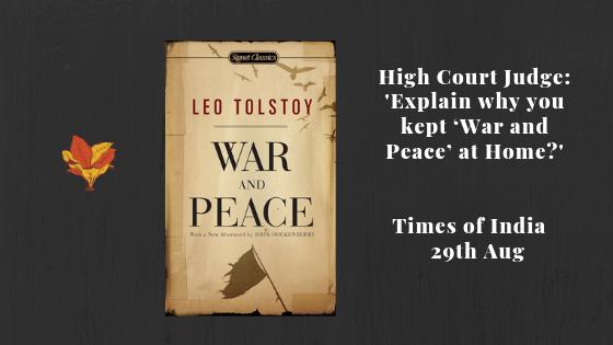 No War, No Peace, No Books..!