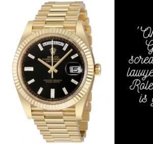 Let Your Rolex Go Missing..!