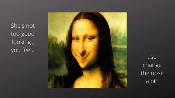 Changing Mona Lisa's Nose..!