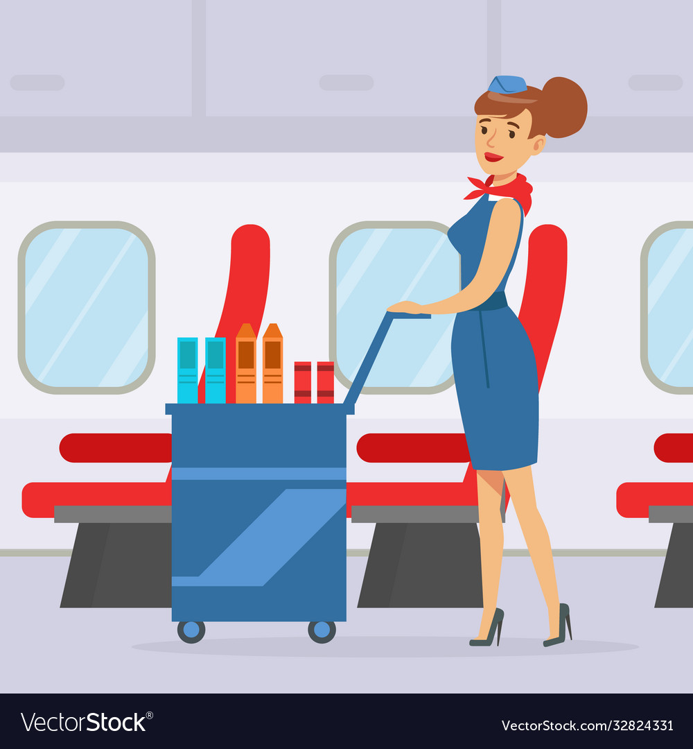 Passing the Airhostess at Work..!