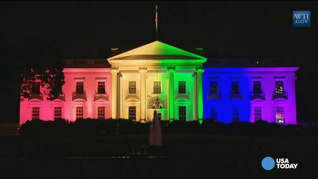 The White House's Coloured Joy..!
