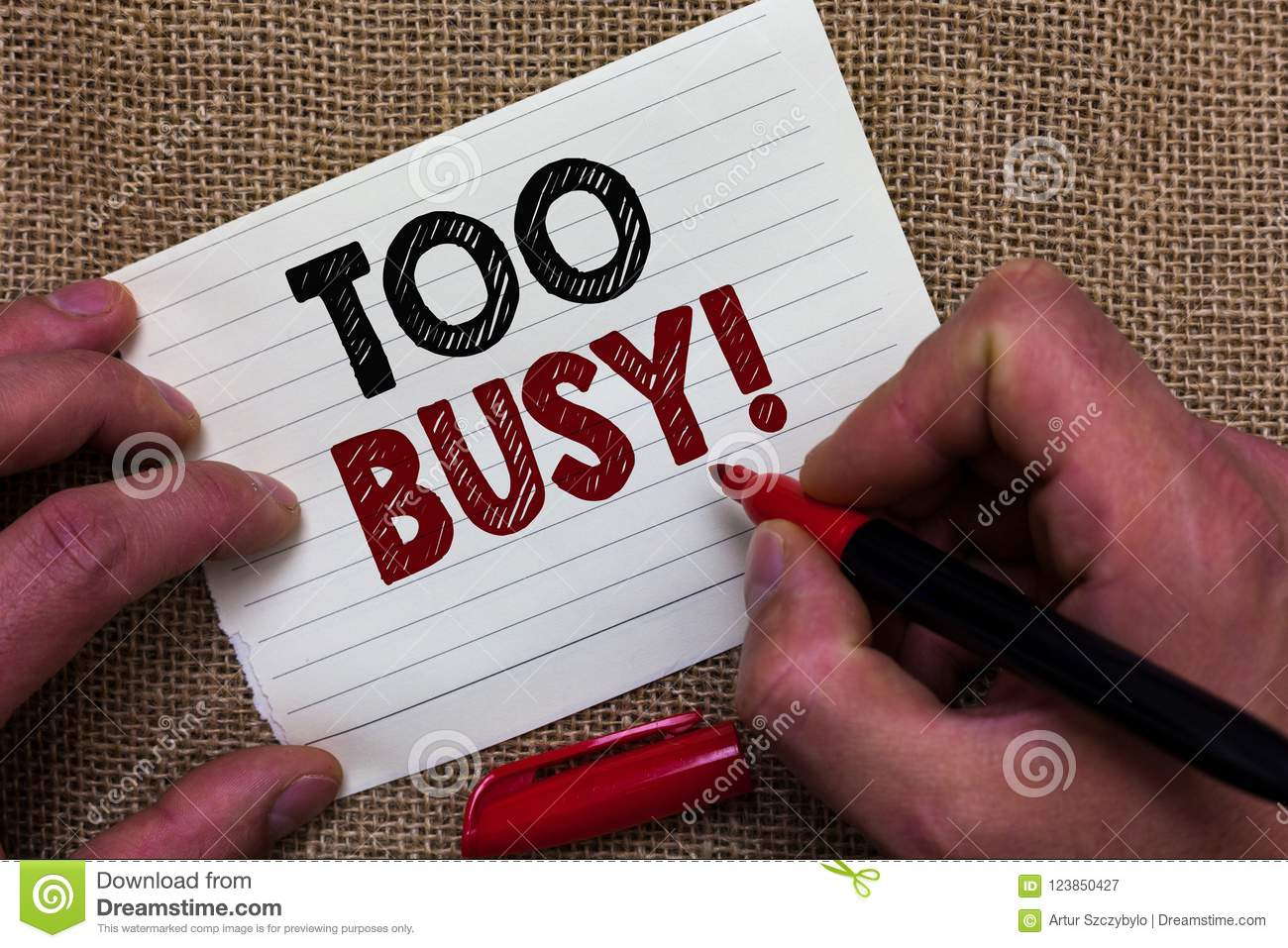 Too Busy Today..!