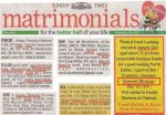 The Angel and the Matrimonial Column..!