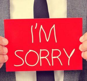 Sorry..!